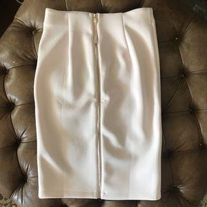 Blush pink Catherine Malandrino zip skirt EUC